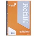 SILVINE WRITING PAD A4 80 sheets FEINT & MARGIN