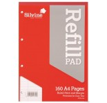 SILVINE WRITING PLAIN PAD A4 160 sheets FEINT & MARGIN