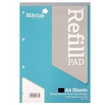 SILVINE WRITING PAD A4 160 sheets NARROW FEINT & MARGIN