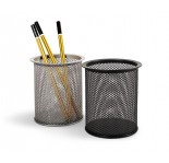 FORPUS METAL PENCIL CUP-ROUND BLACK