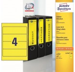 AVERY Zweckform Yellow Filing Labels 100pcs