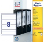AVERY Zweckform Bright White Filing Labels
